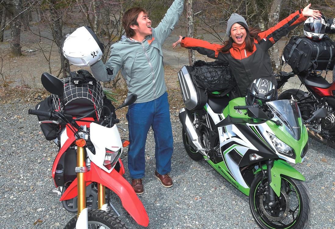 小さなバイクだって全然問題なし、250ccクラスだってキャンプできます!