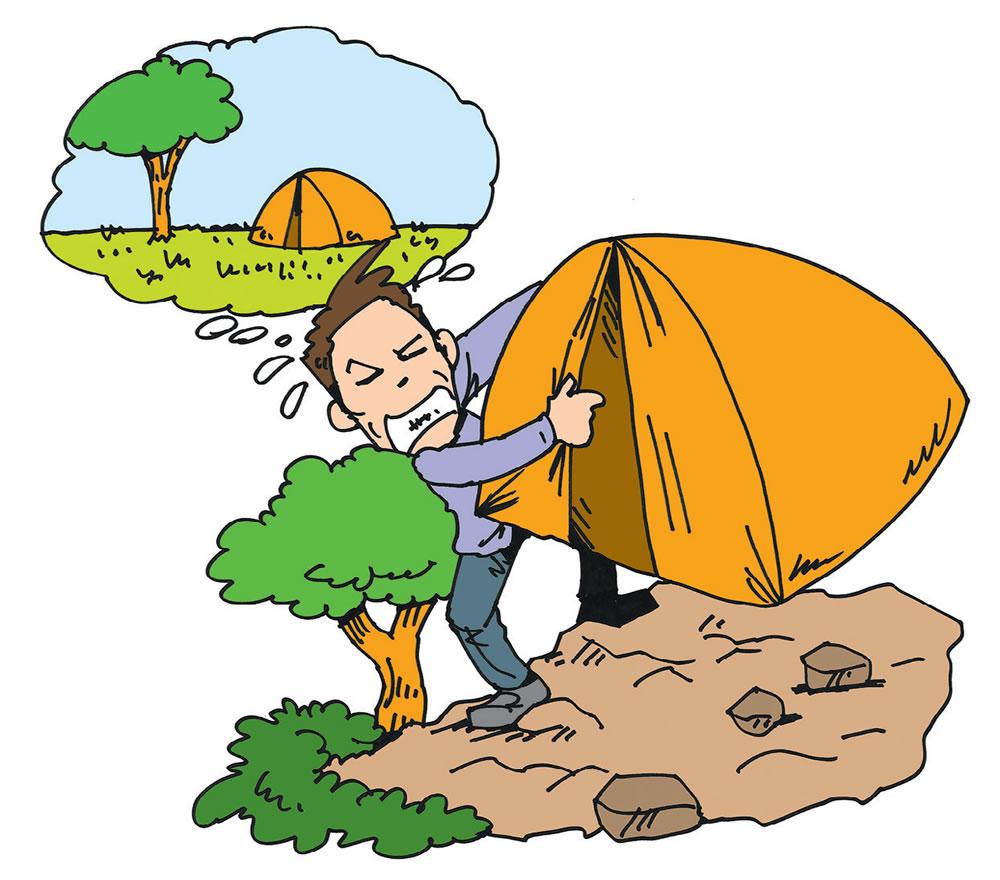 快適なキャンプの基本は芝生&平坦なテントサイト